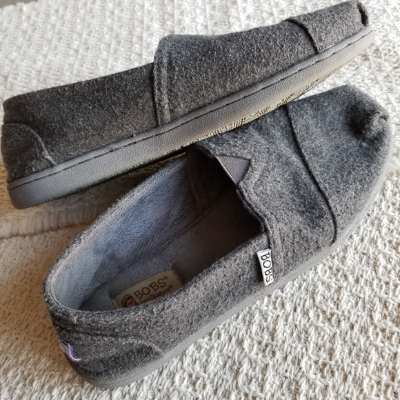 Womens Bobs Memory Foam Gray Shoes